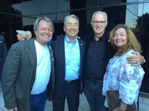Dency Nelson, Assemblyman Muratsuchi, HB City Councilman Jeff Duclos, Bobbi Buescher